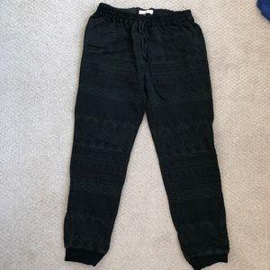 Rebecca Taylor knit track pants